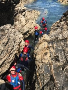 Coasteering in Padstow with Harlyn Surf School
