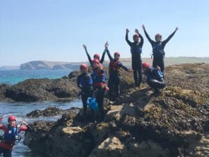 Coasteering adventures in Cornwall