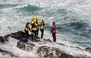 Coasteering Cornwall With Harlyn Surf School