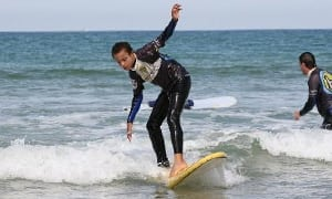 Surf practice and lessons for beginner