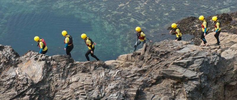 coasteering adventures in cornwall