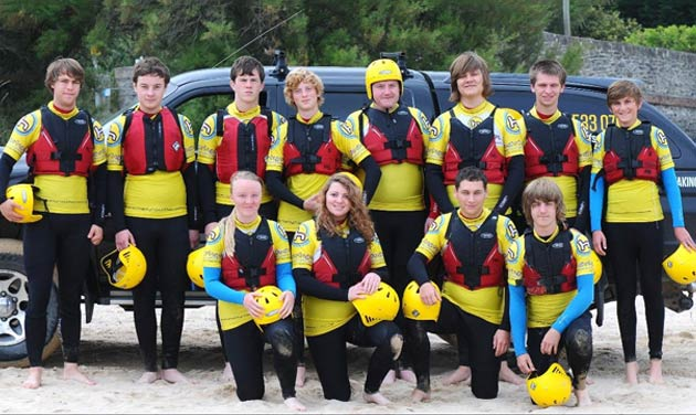 Group coasteering