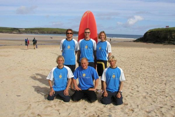 Harlyn team on the beach