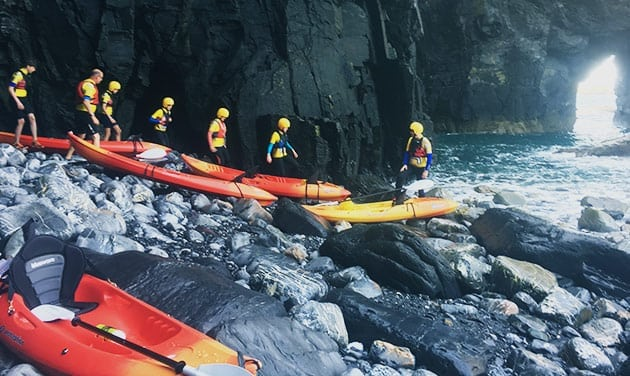Kayaking tours - shoreline and cliffs