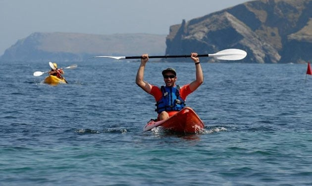 Sea kayaking in Cornwall
